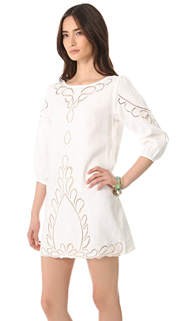 ViX Swimwear Linen Cover Up Dress