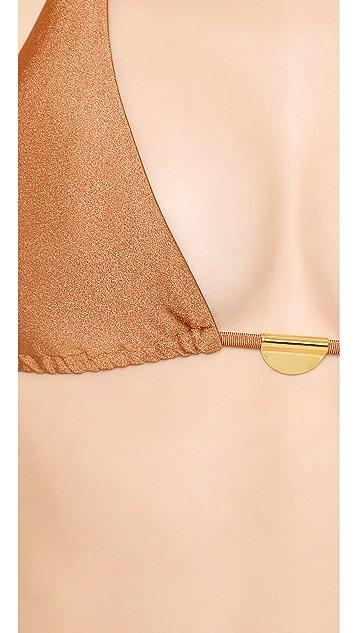 ViX Swimwear Solid Copper Triangle Bikini Top