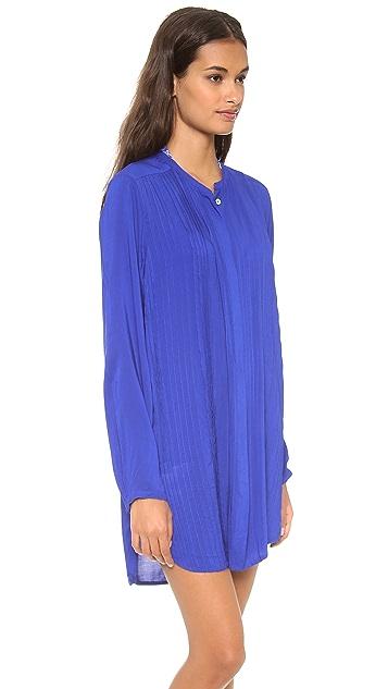 ViX Swimwear Solid Blue Chemise