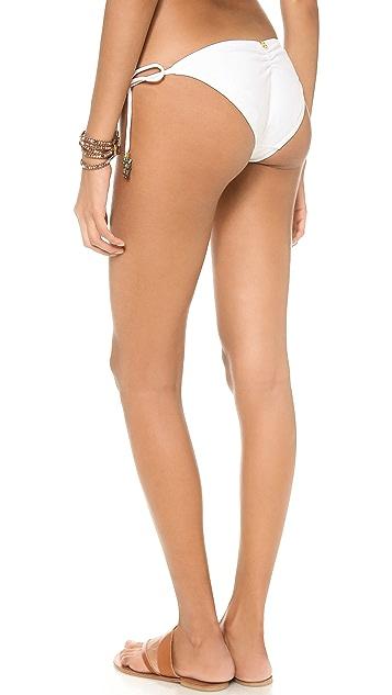 ViX Swimwear Soldi White Tie Side Bikini Bottoms