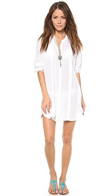 ViX Swimwear Soldi White Chemise