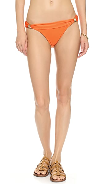ViX Swimwear Solid Orange Bikini Bottoms