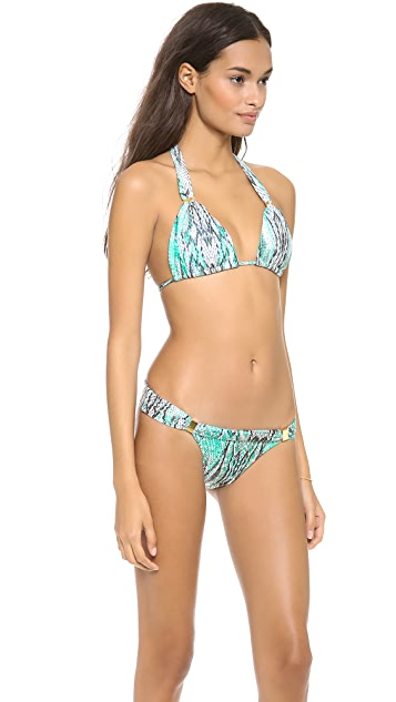ViX Swimwear Ruda Aqua Sash Bikini Top