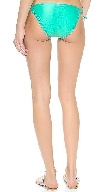 ViX Swimwear Solid Aqua Bikini Bottoms