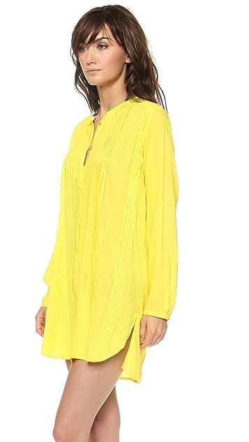ViX Swimwear Solid Yellow Chemise
