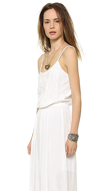 ViX Swimwear Solid White Gisele Dress