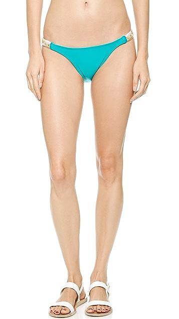 ViX Swimwear Solid Turquoise Bikini Bottoms