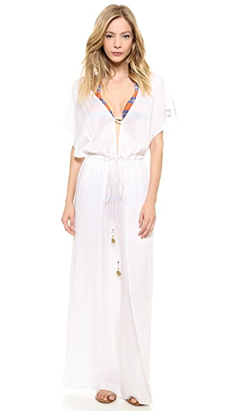 ViX Swimwear Solid White Long Dress