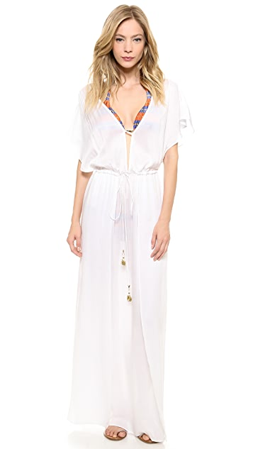 ViX Swimwear Solid White Long Dress