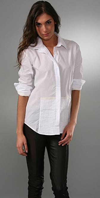 Victorialand Medium Body Half Tuxedo Shirt