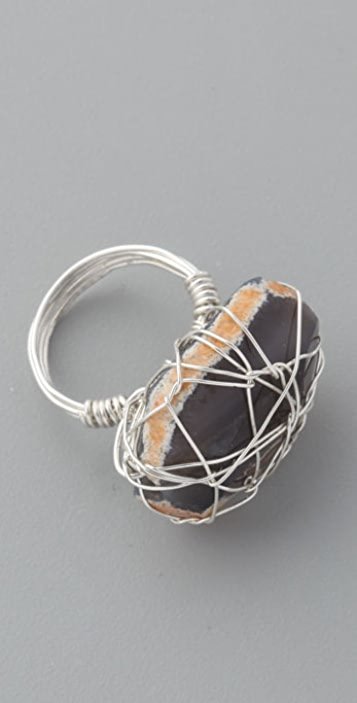 Vanessa Mooney Brazilian Agate Wire Wrap Ring
