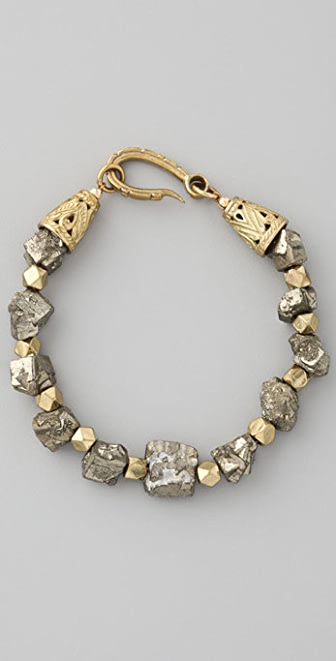 Vanessa Mooney Pyrite Cube Bracelet