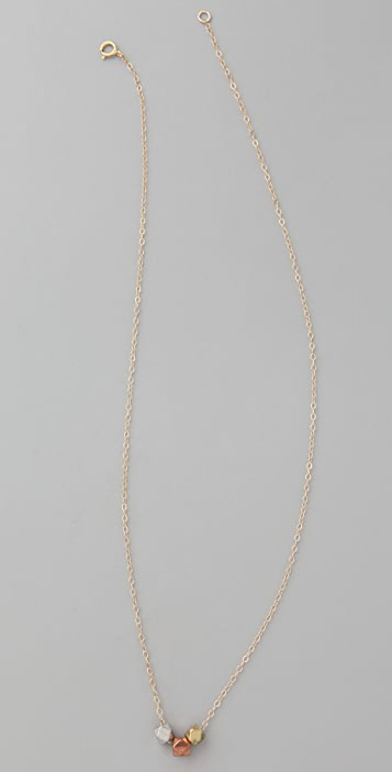 Vanessa Mooney Nugget Slider Necklace
