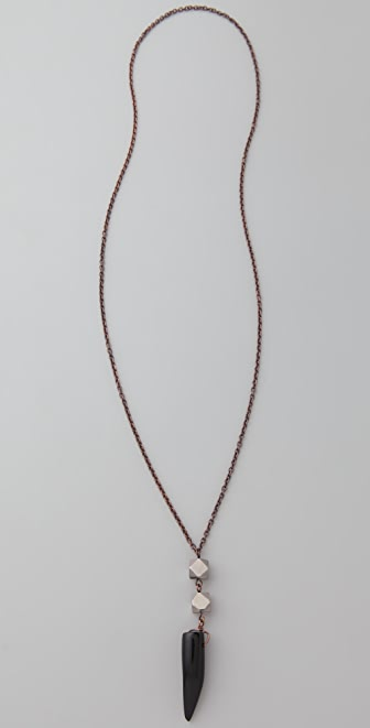 Vanessa Mooney Black Tooth Necklace
