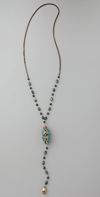 Vanessa Mooney Dusk to Dawn Little Rosary Necklace