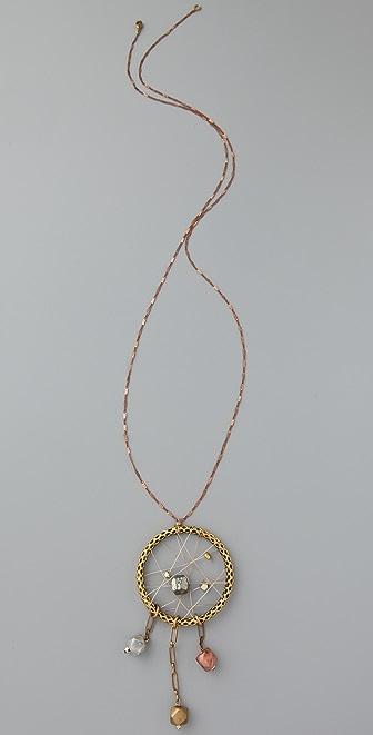 Vanessa Mooney The Dreamcatcher Dangle Necklace