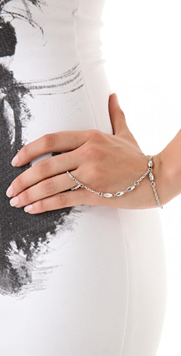Vanessa Mooney The Cage Hand & Ring Bracelet