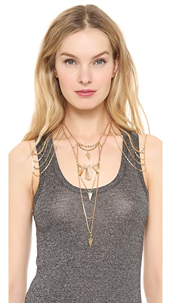 Vanessa Mooney The Noir Shoulder Body Chain