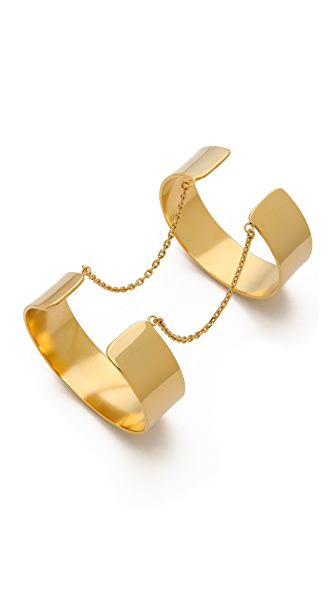 Vanessa Mooney Anarchy Double Cuff Bracelet