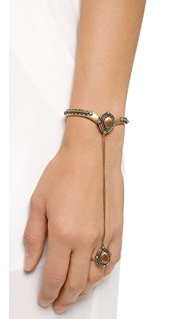 Vanessa Mooney The Empire Ring to Wrist Cuff Bracelet