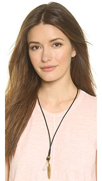 Vanessa Mooney The Heartbreaker Leather Necklace