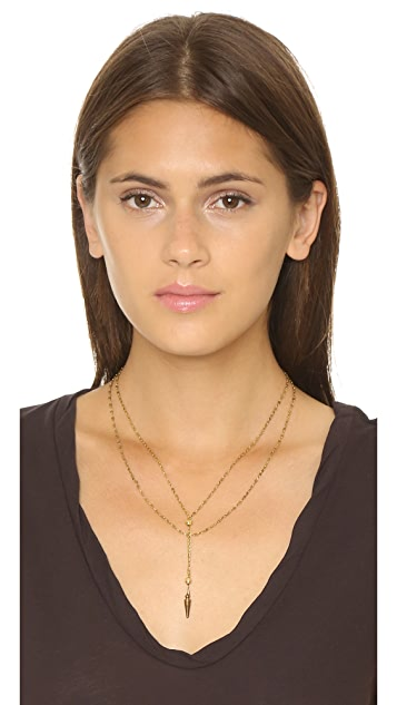 Vanessa Mooney Long Nights Double Chain Dagger Necklace