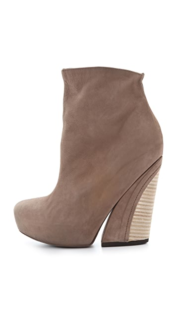 Vic Matie Raw Stack Booties