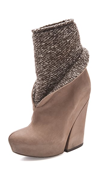 Vic Matie Mixed Platform Booties