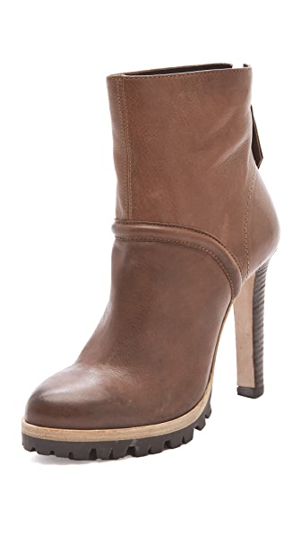Vic Matie Lug Sole Back Zip Booties