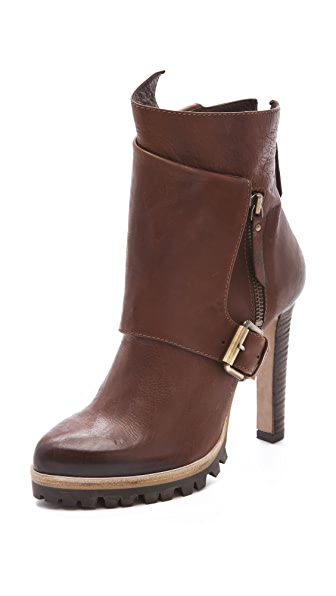 Vic Matie High Heel Lug Sole Booties