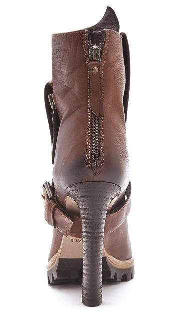 Vic Matie High Heel Lug Sole Booties