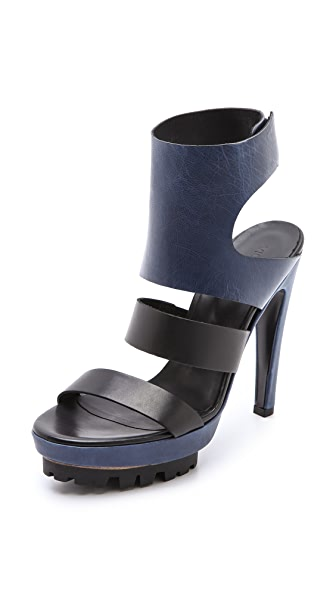 Vic Matie Lug Sole Ankle Cuff Sandals