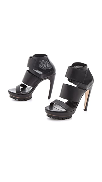 Vic Matie Lug Sole Velcro Sandals