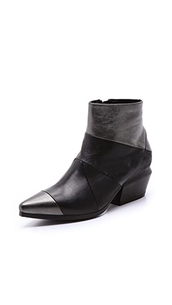 Vic Matie Mixed Material Booties