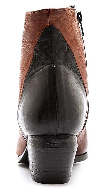 Vic Matie Contrast Heel Booties
