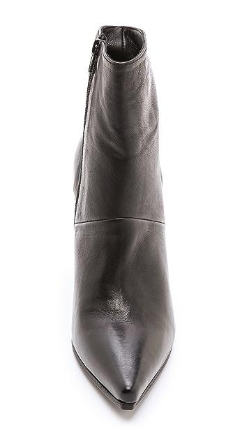 Vic Matie Point Toe Mid Heel Booties