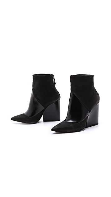 Vic Matie Geometric Panel Booties