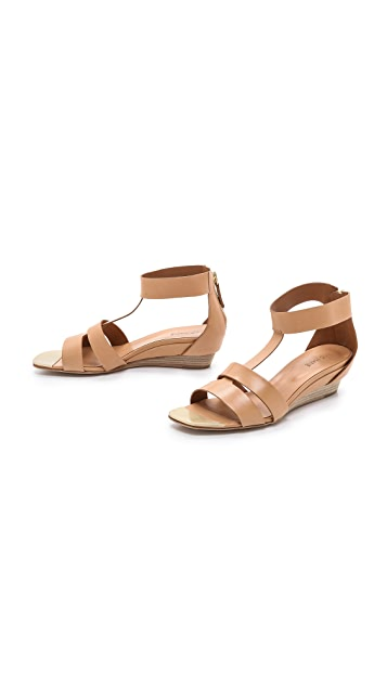 Vic Matie T Strap Wedge Sandals