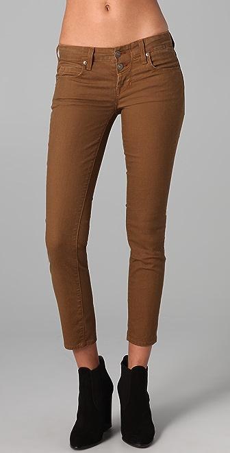 Vince Denim Pigment Crop Skinny Jeans