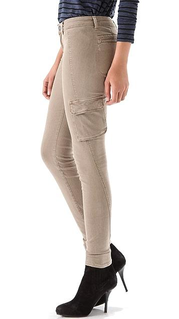 Vince Denim Cargo Pocket Skinny Pants