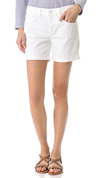 Vince Denim 5 Pocket Relaxed Rolled Shorts