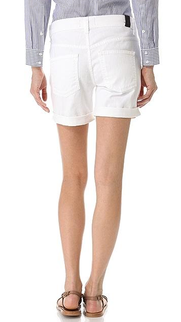 Vince Denim 5 Pocket Relaxed Rolled Shorts