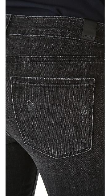 Vince Denim Destroyed Skinny Jeans