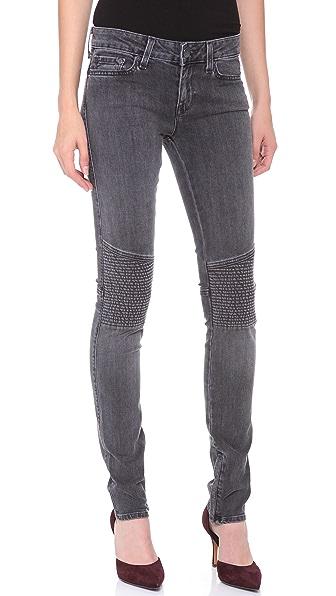Vince Denim Ankle Zip Moto Pants