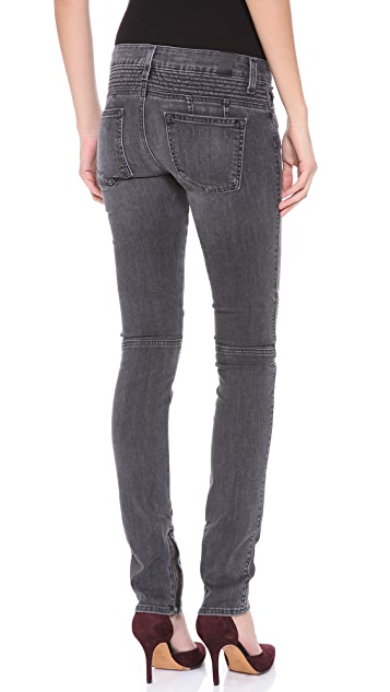 Vince Denim Ankle Zip Moto Pants