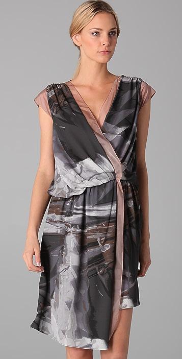 VPL Overlay Print Dress