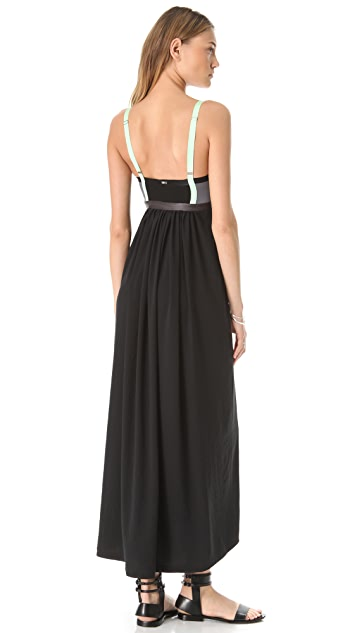 VPL Insertion Narrow Maxi Dress