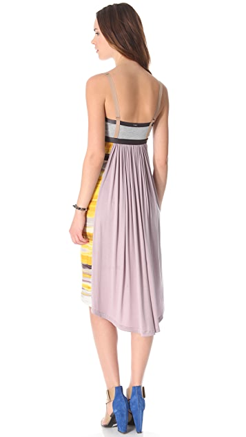 VPL Insertion Narrow Midi Dress