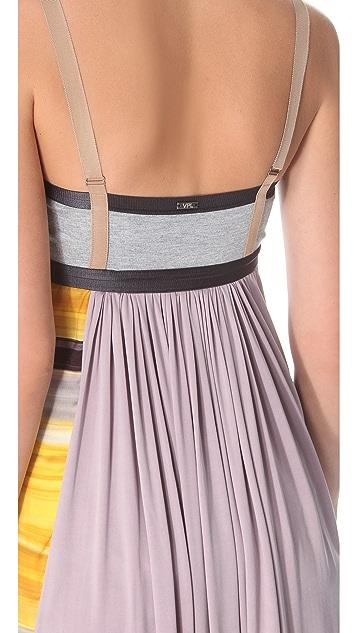 VPL Insertion Narrow Midi Dress