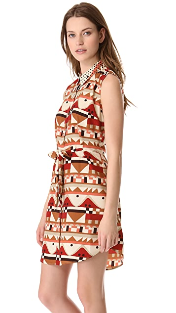 Viva Vena! by Vena Cava Quickstop Shirtdress with Cutout Back